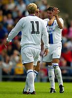 Fotball<br /> Foto: Scott Heavey, Digitalsport<br /> Oxford v Chelsea<br /> Pre-season friendly. 17/07/2004.<br /> Mateja Kezman celebrates his goal