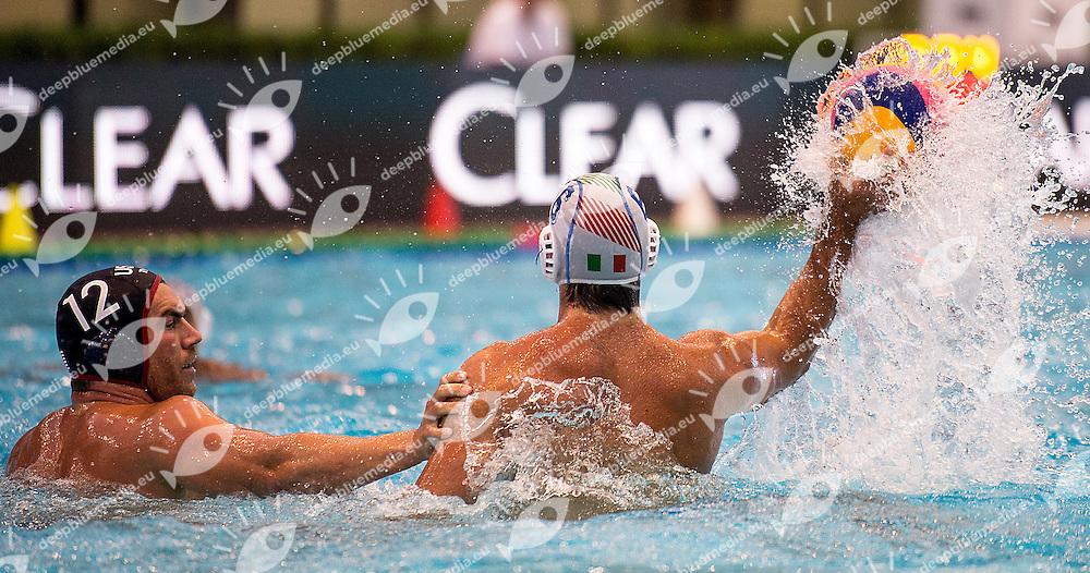 Andrea Fondelli ITA - USA Waterpolo Pallanuoto<br /> day 03 14/06/2015    <br /> 52 Trofeo Settecolli Clear Internazionali d'Italia<br /> Roma Italy 12-14 giugno 2015 <br /> Photo Giorgio Scala/Deepbluemedia/Insidefoto