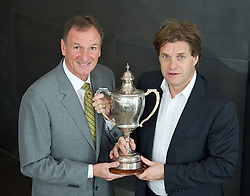 LIVERPOOL, ENGLAND - Wednesday, April 18, 2012: Tournament Director Anders Borg with Liverpool International Ambassador Phil Thompson at the launch of the 2012 Liverpool International Tennis Tournament at the Hilton Hotel. (Pic by David Rawcliffe/Propaganda)