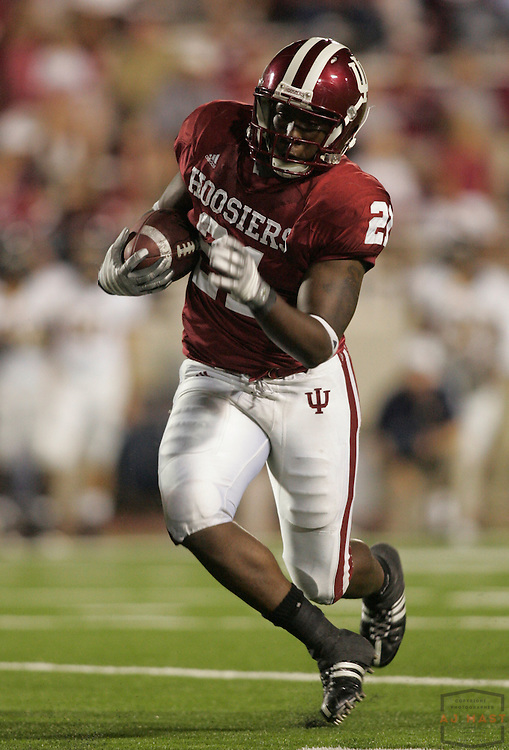 06 September 2008: Indiana safety Rayshun Calhoun (21) as the Indiana Hoosiers played the Murray State in a college football game in Bloomington, Ind....