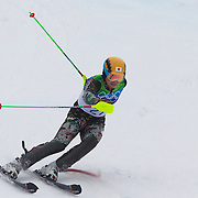 Winter Olympics, Vancouver, 2010.Akira Sasaki, Japan, in action during the Alpine Skiing, Men's Slalom at Whistler Creekside, Whistler, during the Vancouver Winter Olympics. 27th February 2010. Photo Tim Clayton