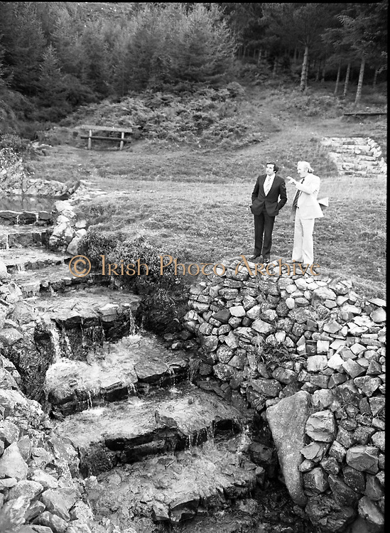 "The Carlingford Oyster Festival.1982.19.08.1982..08.19.1982.19th August 1982..Pictures and Images of the Carlingford Oyster Festival...The Minister For Fisheries and Forestry Mr Brendan Daly officially opened  The Carlingford Oyster Festival. The Chairman of the organising committee was Mr. Joe McKevitt..""The Oyster Pearl"" was Ms Deirdre McGrath..The Minister takes in the local sites."