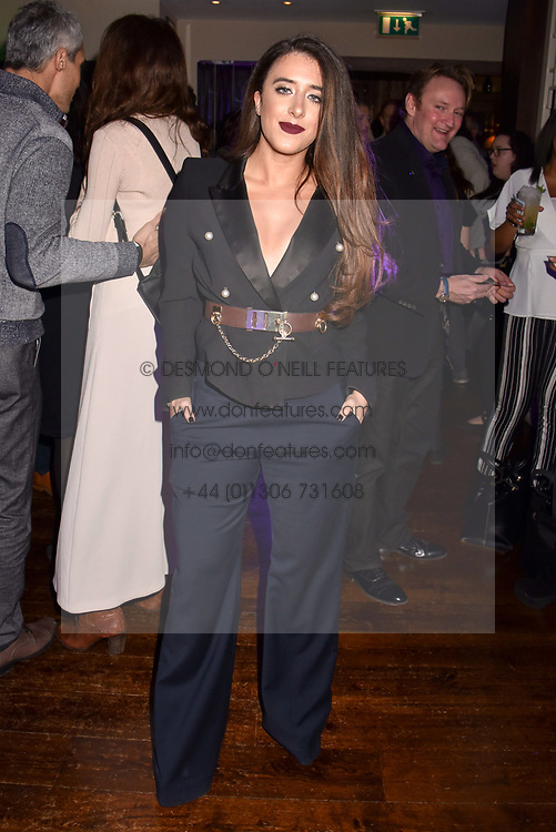 Interior designer Ella Jade at the Beaufort House 7th anniversary party held at Beaufort House Chelsea, 354 Kings Road, London England. 9 March 2017.