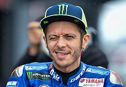 October 26, 2018 - Melbourne, Victoria, Australia - Italian rider Valentino Rossi (#46) of Movistar Yamaha MotoGP checks out the rain during day 2 of the 2018 Australian MotoGP held at Phillip Island, Australia. (Credit Image: © Theo Karanikos/ZUMA Wire)