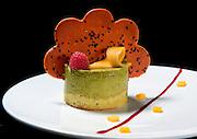 Green Tea Bavarian dessert served at Asian Bistro Next Door in Woodbury, N.Y.
