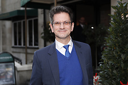 © Licensed to London News Pictures. 17/12/2018. London, UK. Steve Baker is seen leaving Shepherd's Restaurant near Parliament. Later Prime Minister Theresa May will address Parliament on last week's EU Summit. Photo credit: Peter Macdiarmid/LNP