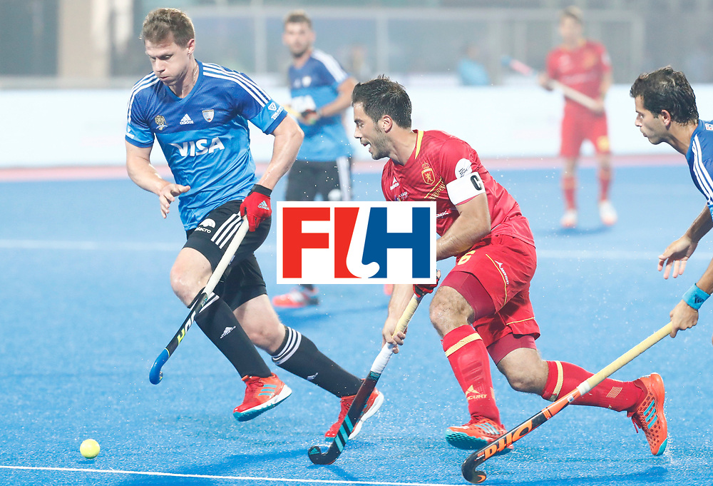 Odisha Men's Hockey World League Final Bhubaneswar 2017<br /> Match id:11<br /> Argentina v Spain<br /> Foto: Miguel Delas (Esp) <br /> COPYRIGHT WORLDSPORTPICS KOEN SUYK