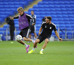 - Photo mandatory by-line: Joe Meredith/JMP - Mobile: 07966 386802 11/08/2014 - SPORT - FOOTBALL - Cardiff - Cardiff City Stadium - Real Madrid v Sevilla - UEFA Super Cup - Press Conference and Open Training session