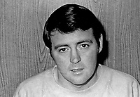 Jim Weatherup, footballer, Glentoran FC, Belfast, N Ireland, UK, October 1972, 197210280660.<br /> <br /> Copyright Image from Victor Patterson, 54 Dorchester Park, Belfast, UK, BT9 6RJ<br /> <br /> t1: +44 28 9066 1296 (from Rep of Ireland 048 9066 1296)<br /> t2: +44 28 9002 2446 (from Rep of Ireland 048 9002 2446)<br /> m: +44 7802 353836<br /> <br /> e1: victorpatterson@me.com<br /> e2: victorpatterson@gmail.com<br /> <br /> The use of any of my copyright images is subject to my Terms & Conditions. It is IMPORTANT that you familiarise yourself with them. They are available at my website, victorpatterson.com.<br /> <br /> None of my copyright images may be used on the Internet unless they are visibly watermarked, i.e. © Victor Patterson within the body of the image. My metadata, denoting my copyright must NOT be deleted. <br /> <br /> Web use is extra at currently recommended NUJ rates. Maximum permitted web size is<br />  400kb. <br /> <br /> Images must not be passed on to a third party - they are for the use of the authorised recipient only.