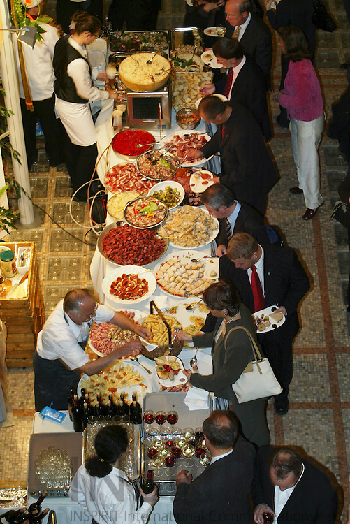 BRUSSELS - BELGIUM - 11 OCTOBER 2006 -- The Austrian Region of Carinthia food specialities at the official reception at the Royal Museums for Art and History in connection with Committee of Regions Open Days. -- PHOTO: ERIK LUNTANG /