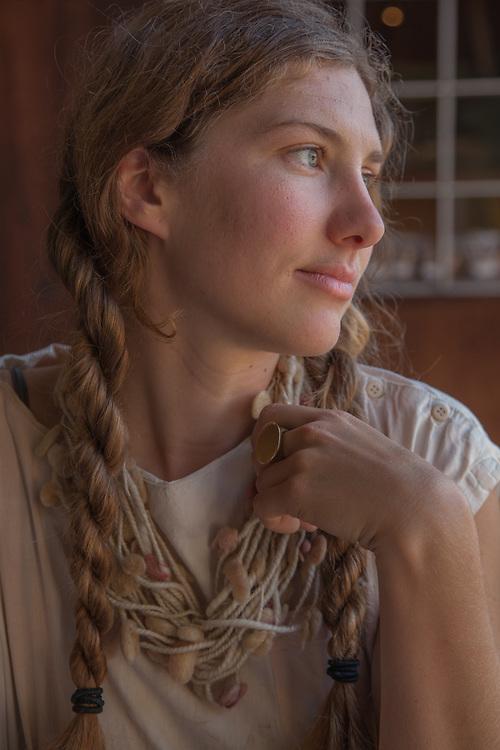 Fiber artist Ashley Eva Brock, Point Reyes Station, CA (Pop. 350)