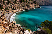 Between Altea and Calpe the Mascarat point area with its turquoise water beaches, Altea, Costa Blanca,Alicante province,Spain