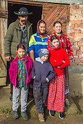 Family, Gypsy, traditional dress, Romania