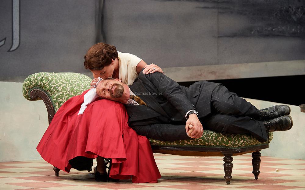 23nd June 2017.Il Turco in Italia, Rossini  at Garsignton Opera. <br /> <br /> Don Geronio - Geoffrey Dolton<br /> Fiorilla - Sarah Tynan