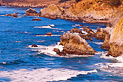 Rocky coastline on the Big Sur coast, Big Sur, California