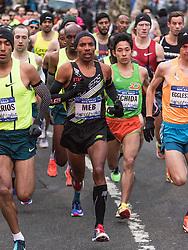 NYRR New York City Half Marathon road race: Meb Keflezighi, USA, NYAC, Skechers