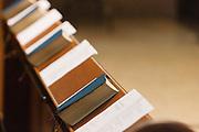 Kerkboekjes in de kerkbanken. Op zondag 31 oktober is in de Getrudiskathedraal in Utrecht  Annemieke Duurkoop als eerste vrouwelijke plebaan van Nederland geïnstalleerd. Duurkoop wordt de nieuwe pastoor van de Utrechtse parochie van de Oud-Katholieke Kerk (OKK), deze kerk heeft geen band met het Vaticaan. Een plebaan is een pastoor van een kathedrale kerk, die eindverantwoordelijk is voor een parochie. Eerder waren bij de OKK al twee vrouwelijk priesters geïnstalleerd, maar die zijn geen plebaan.<br /> <br /> Church books. At the St Getrudiscathedral in Utrecht the first female dean of the Old-Catholic Church (OKK), Annemieke Duurkoop, is installed together with a new pastor Bernd Wallet. The church has no connections with the Vatican.