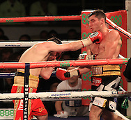 Picture by Richard Gould/Focus Images Ltd +44 7855 403186<br /> 02/11/2013<br /> Coyle (black &amp; Gold) v Simpson (Red) at Hull Ice Arena, Hull.