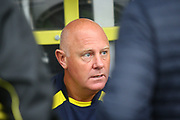 Burton Albion's coach Andy Garner gives a pre-match interview during the EFL Sky Bet Championship match between Burton Albion and Ipswich Town at the Pirelli Stadium, Burton upon Trent, England on 28 October 2017. Photo by John Potts.