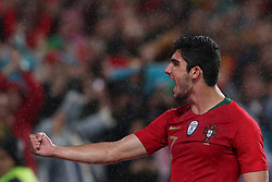 June 7, 2018 - Lisbon, Portugal - Portugal's forward Goncalo Guedes celebrates after scoring his second goal during the FIFA World Cup Russia 2018 preparation football match Portugal vs Algeria, at the Luz stadium in Lisbon, Portugal, on June 7, 2018. (Portugal won 3-0) (Credit Image: © Pedro Fiuza/NurPhoto via ZUMA Press)