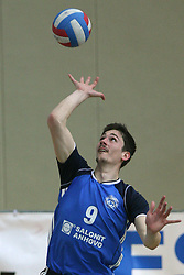 Dejan Vincic of Salonit Anhovo at 4th and final match of Slovenian Voleyball  Championship  between OK Salonit Anhovo (Kanal) and ACH Volley (from Bled), on April 23, 2008, in Kanal, Slovenia. The match was won by ACH Volley (3:1) and it became Slovenian Championship Winner. (Photo by Vid Ponikvar / Sportal Images)/ Sportida)