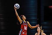 Temalisi Fakahokotau of the Tactix stops a ball during the ANZ Premiership Netball match, Tactix V Magic, Horncastle Arena, Christchurch, New Zealand, 6th June 2018.Copyright photo: John Davidson / www.photosport.nz