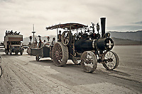 "Train ""art car"" at Burning Man"