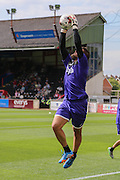 goalkeeper Bobby Olejnik during the Sky Bet League 2 match between Exeter City and York City at St James' Park, Exeter, England on 22 August 2015. Photo by Simon Davies.