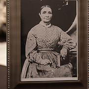 WASHINGTON,DC-AUG21: A photograph of Sarena (no last name) whose father is believed to be Roger B. Taney, which would make the former U.S. Supreme Court Justice Sheila Thomas' great-great-great grandfather. Roger B. Taney, the U.S. Supreme Court chief justice said blacks had no rights and could not be U.S. citizens. (Photo by Evelyn Hockstein/For The Washington Post)