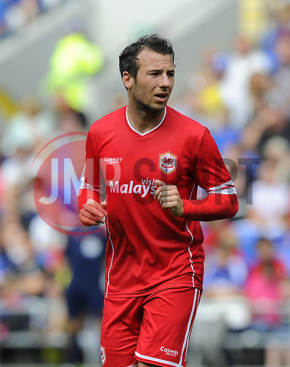 Cardiff City's Adam Le Fondre - Photo mandatory by-line: Joe Meredith/JMP - Mobile: 07966 386802 02/08/2014 - SPORT - FOOTBALL - Cardiff - Cardiff City Stadium - Cardiff City v VfL Wolfsburg - Pre-Season Friendly