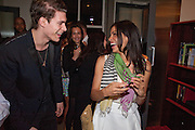 ALEXANDRE ADDOCORATO; ROSARIO DAWSON, Party after the opening of  A Memory, A Monologue, A Rant, and A Prayer  at Century Club.  Restless Buddha's fundraising event helping women around the world. All proceeds raised from the sale of tickets go to Women for Women International, V-Day and Domestic Violence Intervention Project. 26 March 2012