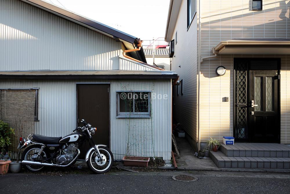 new family house built next to an old house Japan Yokosuka