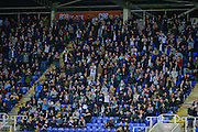 The Derby fans celebrate during the Sky Bet Championship match between Reading and Derby County at the Madejski Stadium, Reading, England on 15 September 2015. Photo by Adam Rivers.