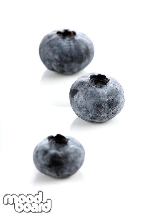 Blueberry on white background - close-up