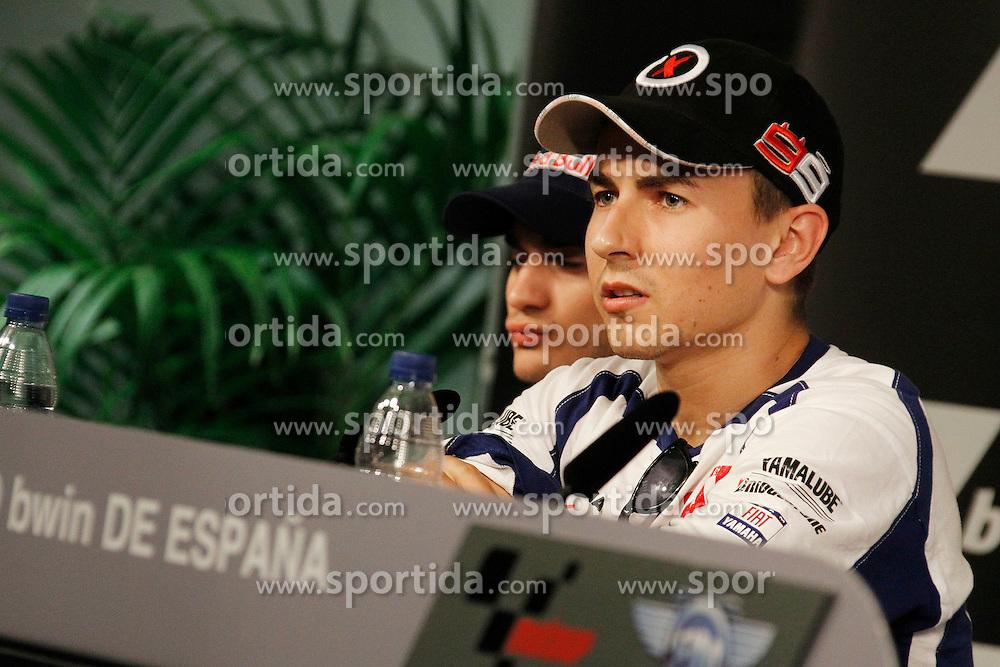 29.04.2010, Motomondiale, Jerez de la Frontera, ESP, MotoGP, Pressekonferenz, im Bild Jorge Lorenzo - Fiat Yamaha team. EXPA Pictures © 2010, PhotoCredit: EXPA/ InsideFoto