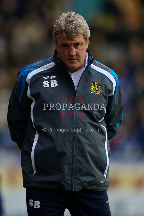 WIGAN, ENGLAND - Sunday, January 20, 2008: Wigan Athletic's manager Steve Bruce during the 2-1 Premiership defeat to Everton at the JJB Stadium. (Photo by David Rawcliffe/Propaganda)