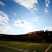 A general view of the field prior to the game at Harvard Stadium on August 9, 2014 in Boston, Massachusetts. (Photo by Elan Kawesch)
