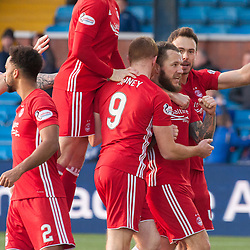 Aberdeen celebrations for 1-3 - Kilmarnock v Aberdeen - Ladbrokes Premiership - 26 November 2017 - © Russel Hutcheson | SportPix.org.uk