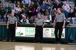 07 January 2017:  Cody Crum, Tom Flynn and Fritz Larsen during an NCAA men's division 3 CCIW basketball game between the Wheaton Thunder and the Illinois Wesleyan Titans in Shirk Center, Bloomington IL