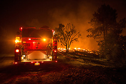 July 26, 2018 - Idyllwild, California, U.S - The Cranston Fire continues to burn early into Thursday morning. The fire has grown to over 4,700 acres and is five percent contained. Over 3,000 people have been evacuated from 2,174 homes and five structures have been destroyed. (Credit Image: © Kevin Warn via ZUMA Wire)
