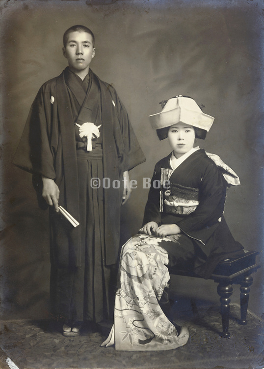 formal portrait of young couple Japan early 1930s