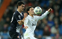 22.11.2011, Estadio Santiago Bernabéu, Madrid, ESP, UEFA CL, Gruppe D, Real Madrid (ESP) vs Dinamo Zagreb (CRO) im Bild Mehmed Alispahic, Mesut Özil/ Oezil. // during the football match of UEFA Champions league, group d, between Real Madrid (ESP) vs Dinamo Zagreb (CRO) at Estadio Santiago Bernabéu, Madrid, ESP, on 2011/11/22. EXPA Pictures © 2011, PhotoCredit: EXPA/ nph/ Pixell..***** ATTENTION - OUT OF GER, CRO *****
