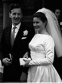 1964 - Wedding of Sean Manley and Eithne Lydon at University Church Dublin