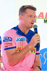 March 22, 2019 - Jaipur, Rajasthan, India - Rajasthan Royals player Jos Butler addressing the media person during the team jersey unveiled ceremony ahead the IPL 2019 matches  in Jaipur, Rajasthan, India  on March 22,2019. (Credit Image: © Vishal Bhatnagar/NurPhoto via ZUMA Press)