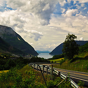 The view toward Maurangerfjord, Hordaland, Norway.