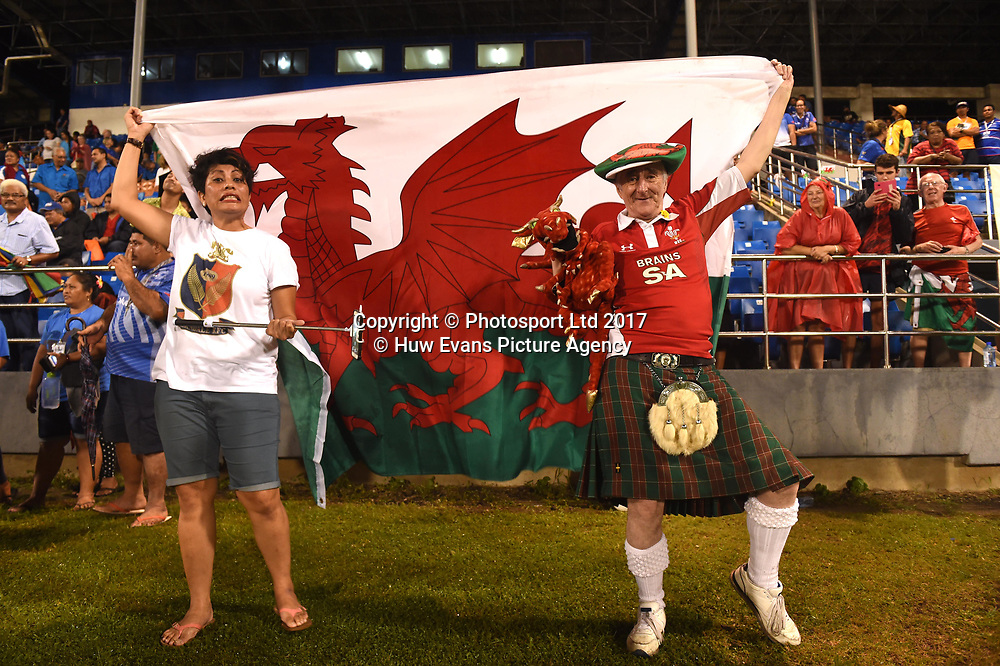 23.06.17 - Samoa v Wales -<br /> Wales fans.<br /> Copyright photo: Ben Evans / www.photosport.nz