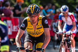 Stef CLEMENT of Team LottoNL-Jumbo during the last climb at Mur de Huy of the 2018 La Flèche Wallonne race, Huy, Belgium, 18 April 2018, Photo by Pim Nijland / PelotonPhotos.com | All photos usage must carry mandatory copyright credit (Peloton Photos | Pim Nijland)