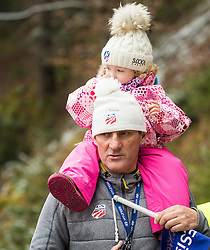 Vasja Bajc, coach of USA with his daughter during 1st Round at Day 1 of World Cup Ski Jumping Ladies Ljubno 2017, on February 11, 2016 in Ljubno ob Savinji, Slovenia. Photo by Vid Ponikvar / Sportida