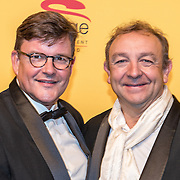 NLD/Scheveningen/20161030 - Premiere musical The Lion King, Jon van Eerd en partner Ton Fiere
