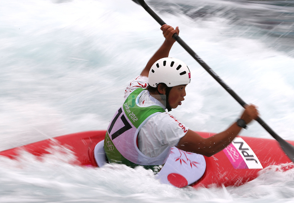 Kazuki Yazawa of Japan competes during the semifinals of the kayak slalom single 1k event at the Lee Valley White Water Centere during day 5 of the London Olympic Games London, England, United Kingdom on August 1, 2012..(Jed Jacobsohn/for The New York Times)....